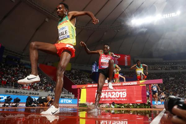 Getnet Wale in the steeplechase at the World Athletics Championships Doha 2019 (Getty Images)