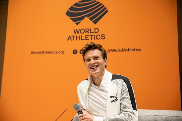 Karsten Warholm in Monaco ahead of the World Athletics Awards 2019 (Philippe Fitte)