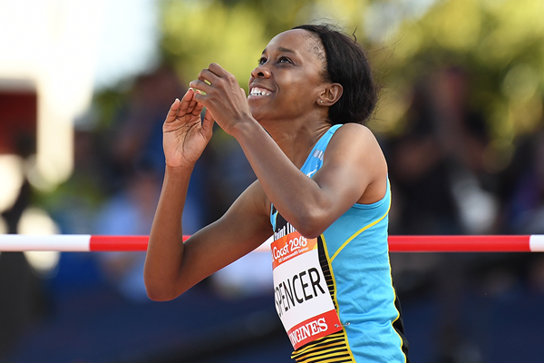Levern Spencer wins the high jump at the Commonwealth Games (Getty Images)