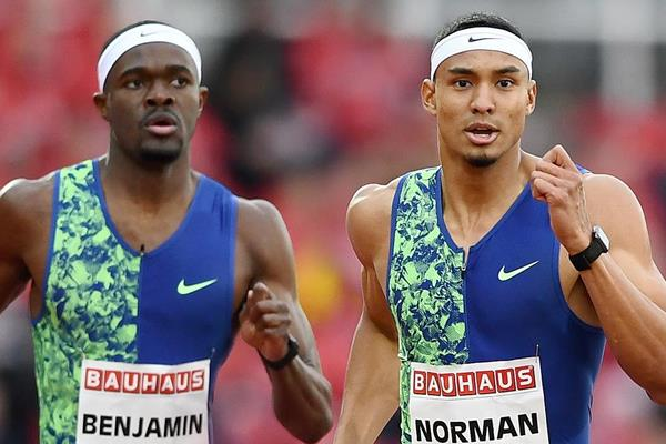 US sprinters Rai Benjamin and Michael Norman (AFP / Getty Images)