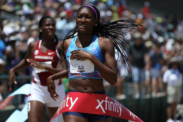 Quanera Hayes wins the 400m at the US Championships (Getty Images)