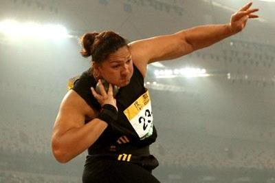 Valerie Vili winning in the Bird's Nest (Getty Images)