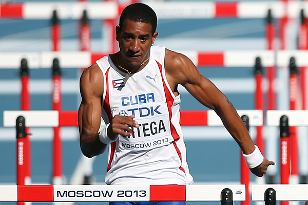 Orlando Ortega in the 110m hurdles at the IAAF World Championships Moscow 2013 (Getty Images)