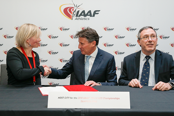 Tampere is awarded the 2018 IAAF World U20 Championships (Philippe Fitte / IAAF)