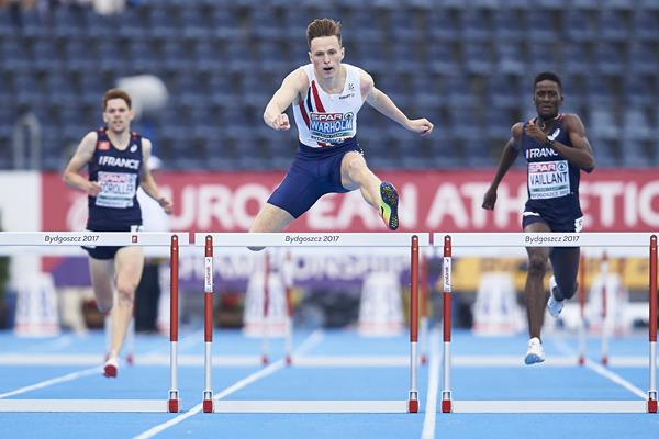 Karsten Warholm wins the 400m hurdles at the European U23 Championships in Bydgoszcz (Getty Images)