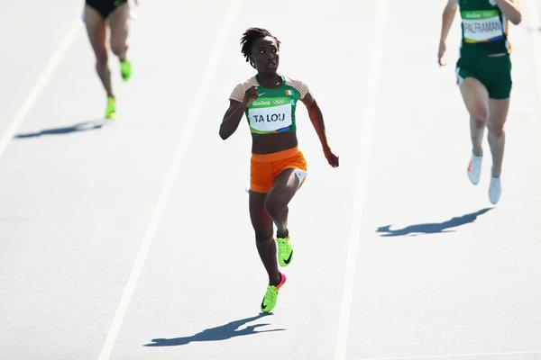 Marie-Josee Ta Lou in the 200m at the Rio 2016 Olympic Games (Getty Images)