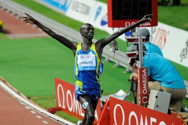 8:01.62 world lead for Brimin Kipruto in Lausanne (Deca Text&Bild)