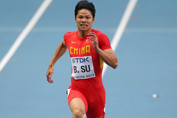 China's Su Bingtian in action in the 100m (Getty Images)