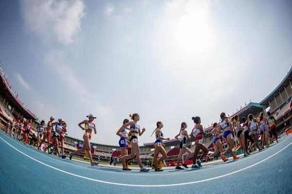 The girls' 5000m race walk at the IAAF World U18 Championships Nairobi 2017 (Getty Images)