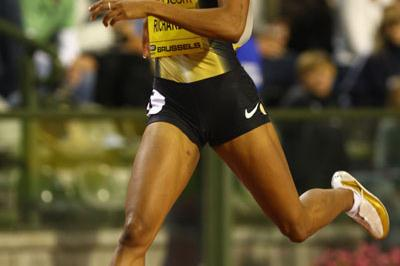Five down, one to go - Sanya Richards in Brussels (Getty Images)