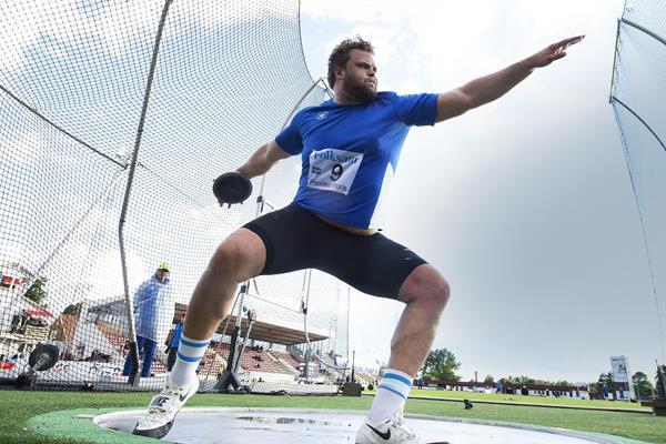 Daniel Stahl in action at the World Athletics Continental Tour Bronze meeting in Karlstad (Thomas Windestam)