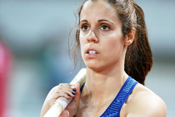 Katerina Stefanidi, winner of the pole vault at the IAAF Diamond League meeting in Shanghai (Errol Anderson)