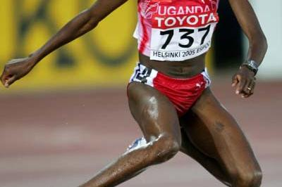 Dorcus Inzikuru in action in the women's 3000m Steeplechase final (Getty Images)