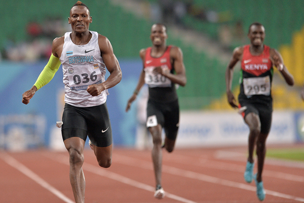 Isaac Makwala wins the 400m at the All-Africa Games (AFP / Getty Images)