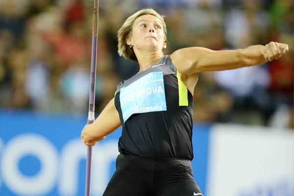 Barbora Spotakova in action at the IAAF Diamond League meeting in Brussels (Jiro Mochizuki)
