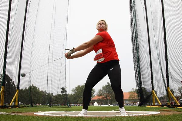 Poland's Anita Wlodarczyk in action in the hammer (Getty Images)