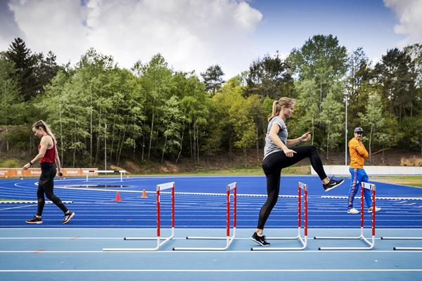 Nadine Visser and Dafne Schippers training in Papendal, training under strict observance of guidelines (AFP / Getty Images)