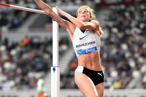 Yaroslava Mahuchikh, winner of the high jump at the IAAF Diamond League meeting in Doha (Jiro Mochizuki)