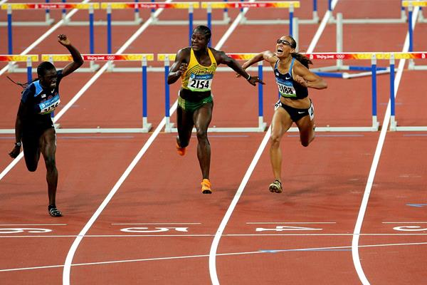 Dawn Harper Nelson wins the 100m hurdles at the 2008 Olympic Games in Beijing (Getty Images)