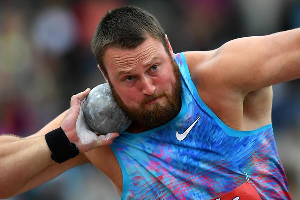 Tom Walsh in action in the shot put (Getty Images)