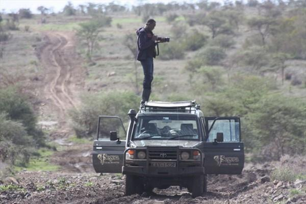 Usain Bolt tries his hand at wildlife photography in central Kenya (Elias Makori)
