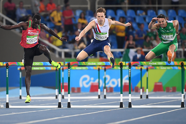 Karsten Warholm in the 400m hurdles at the Rio 2016 Olympic Games (AFP / Getty Images)