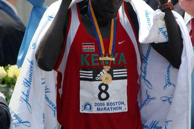 Nice fit - Robert Kipkoech Cheruyiot's second Boston laurels (Getty Images)