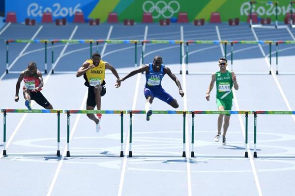 Kerron Clement in the 400m hurdles at the Rio 2016 Olympic Games (Getty Images)