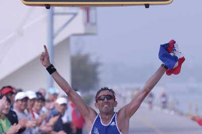 Yannick Djouadi wins gold in IAU 100km World Cup (Sean Wallace-Jones)