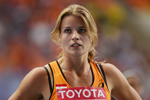 Dafne Schippers during the heptathlon at the IAAF World Championships in Moscow (Getty Images)