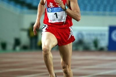 Qi Haifeng winning the decathlon at the 10th Chinese National Games (Jiro Mochizuki-Agence SHOT)