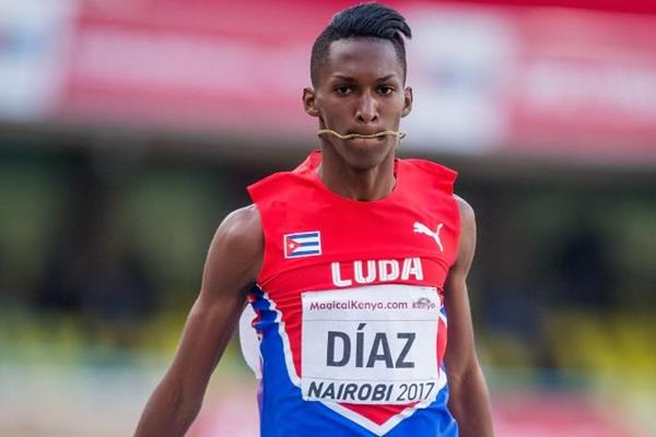 Jordan Diaz in the triple jump at the IAAF World U18 Championships Nairobi 2017 (Getty Images)