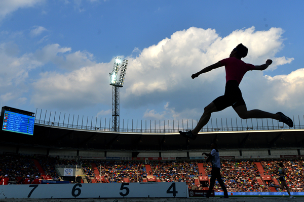 Action from the long jump at Mestsky Stadion in Ostrava (AFP / Getty Images)