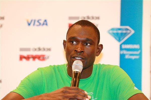 David Rudisha on the eve of his U.S. debut in New York (Victah Sailer)