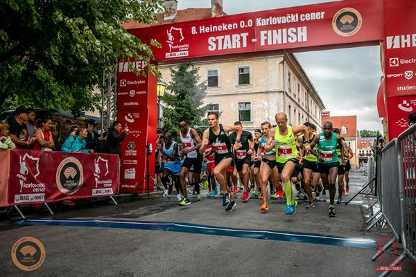 Elite start of the Karlovac 10km (Organisers)