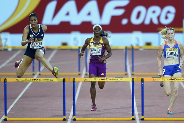 Kaliese Spencer at the IAAF Continental Cup, Marrakech 2014 (Getty Images)