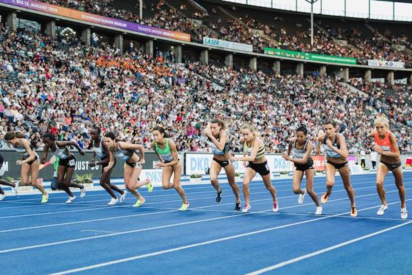The women's steeplechase in Berlin (ISTAF / Camera 4)