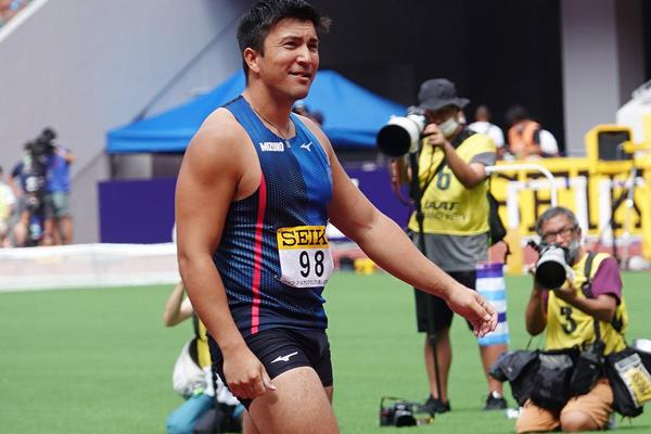 Genki Dean, winner of the javelin at the Seiko Golden Grand Prix in Tokyo (JAAF)