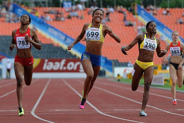 Irene Ekelund in the girls 200m at the IAAF World Chapionships 2013 (Getty Images)