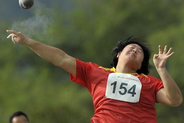 Li Ling competing in the 5th East Asian Games in Hong Kong in 2009 (AFP / Getty Images)