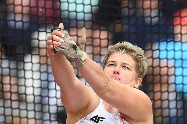 Anita Wlodarczyk in the hammer at the IAAF World Championships London 2017 (AFP / Getty Images)