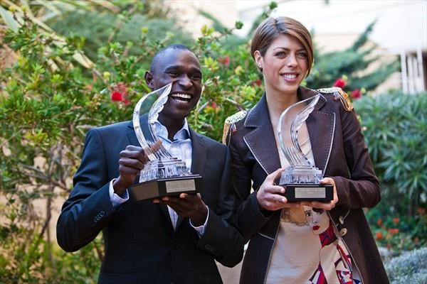2010 World Athletes of the Year David Rudisha and Blanka Vlasic (Philippe Fitte)