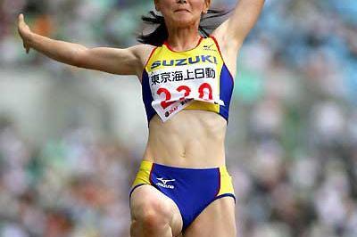 Kumiko Ikeda jumps at the Japanese champs (Kazutaka Eguchi/Agence SHOT)