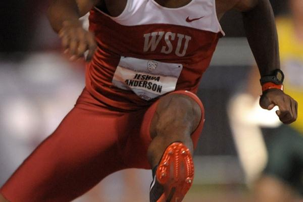 Jeshua Anderson improves to 48.13 in Tucson (Kirby Lee)