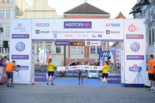 Betelhem Moges wins the Ceske Budejovice Half Marathon (Organisers)