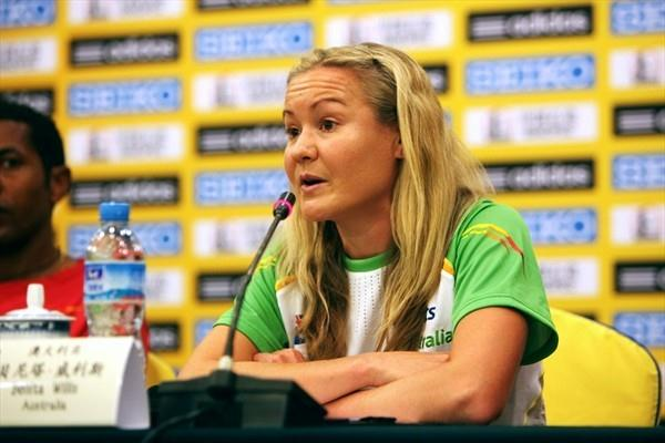 Benita Willis at the pre-race press conference in Nanning (Getty Images)