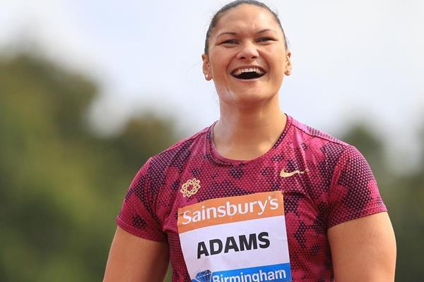 Valerie Adams at the 2014 IAAF Diamond League meeting in Birmingham (Jean-Pierre Durand)