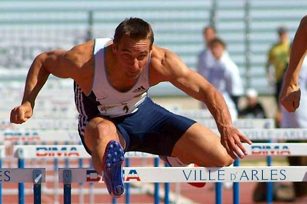 Roman Sebrle in action in the 110m Hurdles in Arles - Day 2 (Lorenzo Sampaolo)