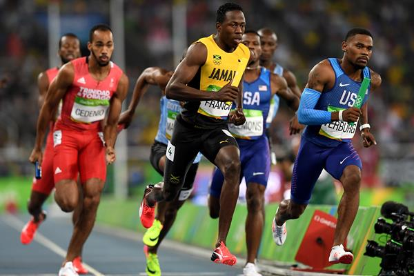 Javon Francis of Jamaica in the 4x400m at the Rio 2016 Olympic Games (Getty Images)