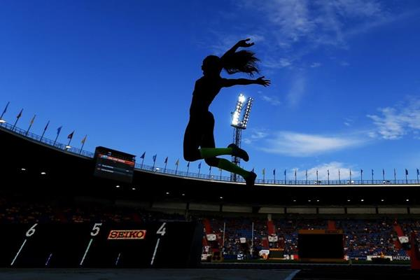 Caterine Ibarguen completing her Continental Cup jump double (Getty Images)